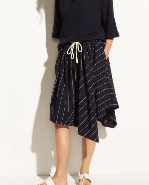 Vince Skinny stripe Asymmetric skirt