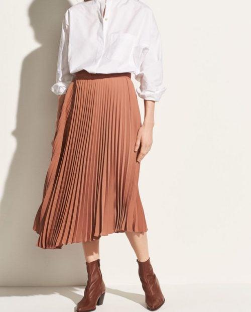 Vince Drape Pleated skirt