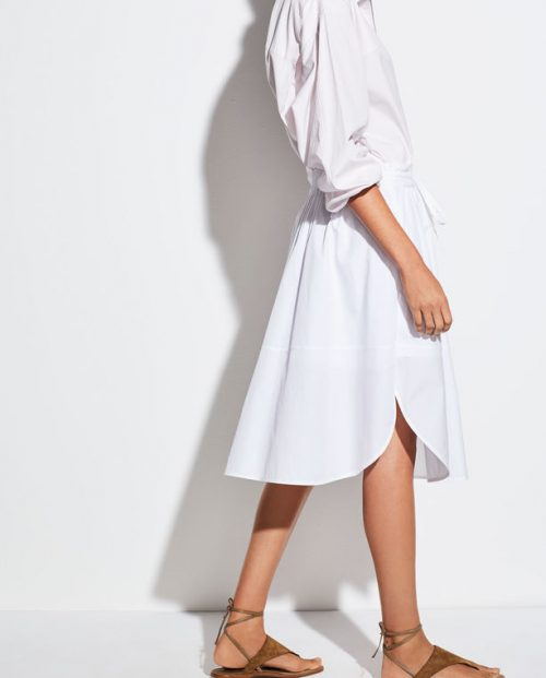 Vince Wide Hem Cotton Skirt