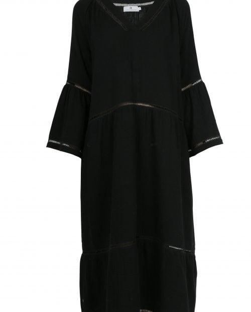 arnie-says-ludivine-gauze-kjole-sort