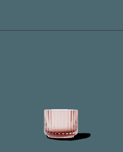 Lyngby Tealight Holder glass small, Burgundy