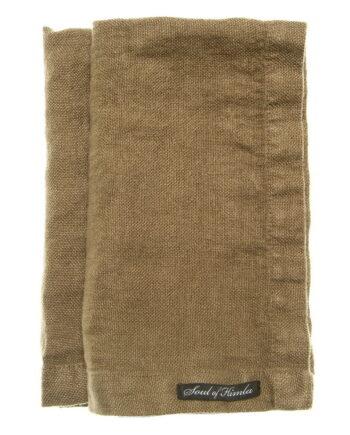 Soul of Himla lin serviett 50x50cm, Taupe