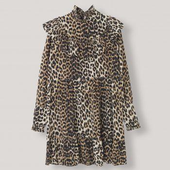 Ganni FAYETTE Silke dress, Leopard