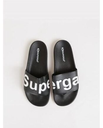 SUPERGA Slippers Sort med hvit skrift